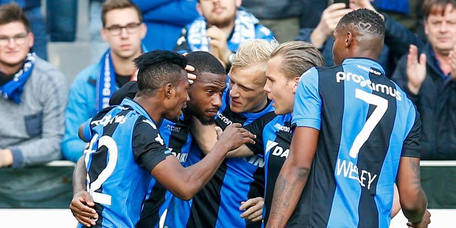 Le FC Bruges domine Saint-Trond et garde le cap en tête (4-1)