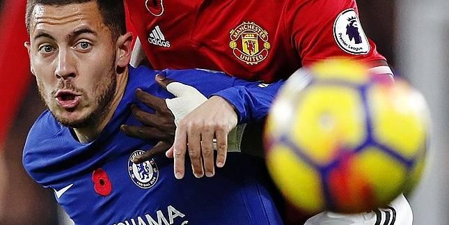 Hazard en démonstration contre Manchester United