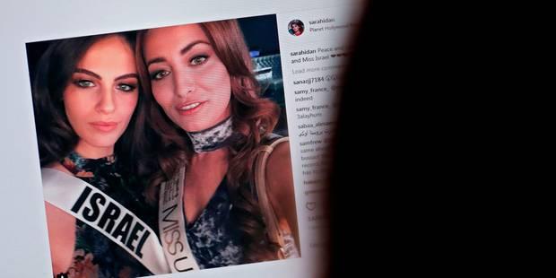 Miss Irak déclenche les passions après... un selfie avec Miss Israël - La DH