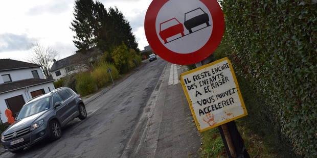 Limal: une action choc des citoyens pour sensibiliser aux risques de la vitesse - La DH