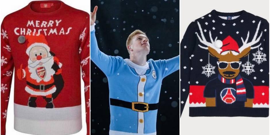 Les clubs de foot se mettent aussi aux pulls de Noël
