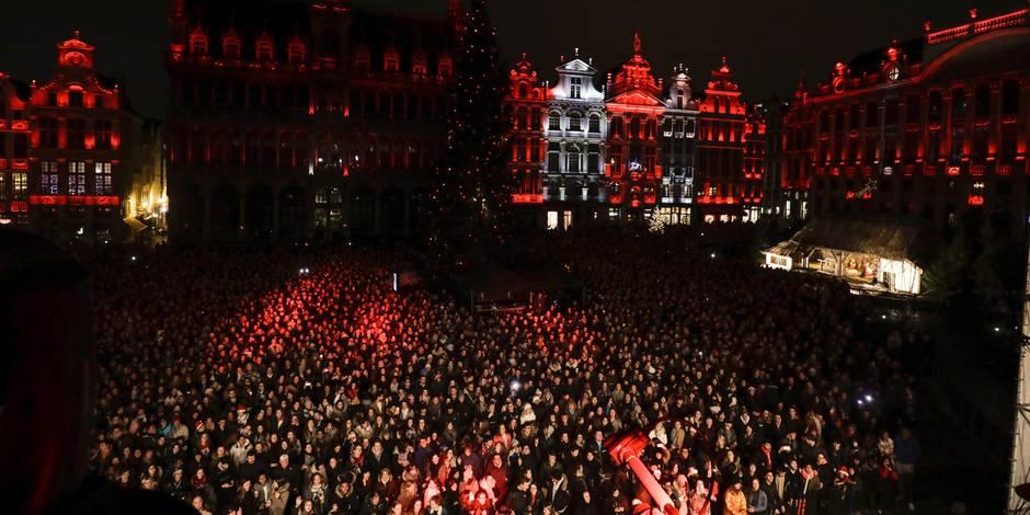 Plaisirs d'hiver: 6.000 personnes ont assisté au spectacle sur la Grand-place