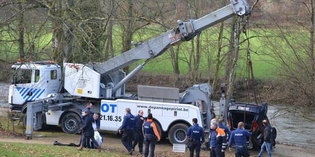 Durbuy: la voiture tombée dans l'Ourthe a été repêchée, sans son conducteur - La DH