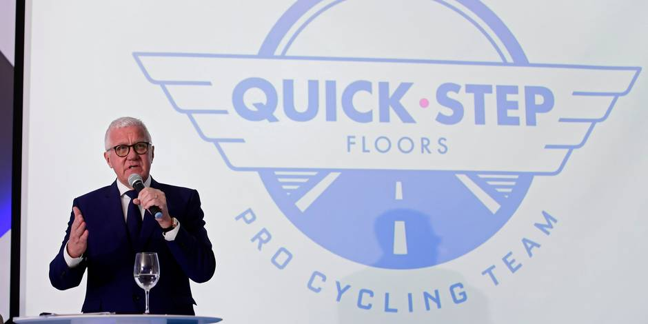 CALPE, SPAIN - JANUARY 9 : LEFEVERE Patrick (BEL) General Manager of Quick-Step Floors Cycling team talking to the press during a press conference part of the official team presentation of the Quick-Step Floors Pro cycling team 2018 at the Hotel Suitopia on January 09, 2018 in Calpe, Spain, 9/01/2018 ( Photo by Nico Vereecken / Photonews