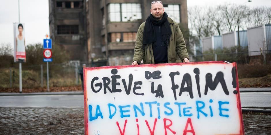 Alain a entamé une grève de la faim pour protester contre la démolition de la Dentisterie !