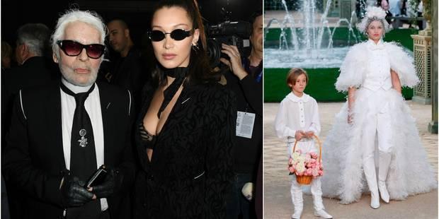 Haute couture: Lagerfeld était barbu, la mariée en pantalon et Kaia Gerber éblouissante pour Chanel - La DH