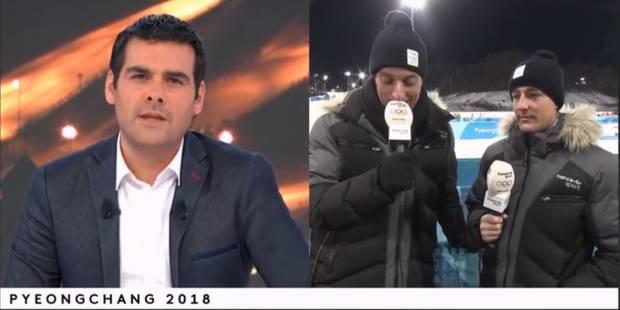 JO 2018: Un journaliste de France 2 craque complètement en direct - La DH