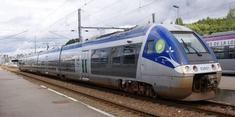 Un voyageur s'accroche au wagon d'un train qu'il allait louper — Rennes