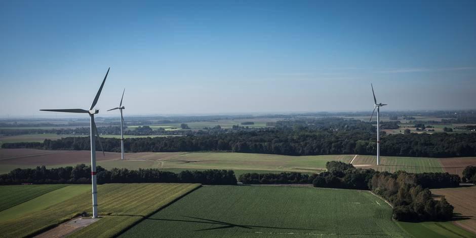 Demande de permis introduite pour trois éoliennes à Courcelles