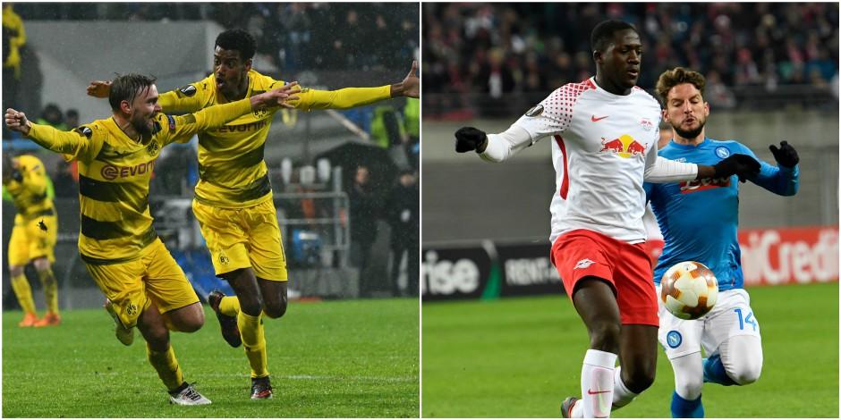 Europa League: Naples éliminé malgré une victoire contre le RB Leipzig, Dortmund se qualifie difficilement contre l'Atalanta
