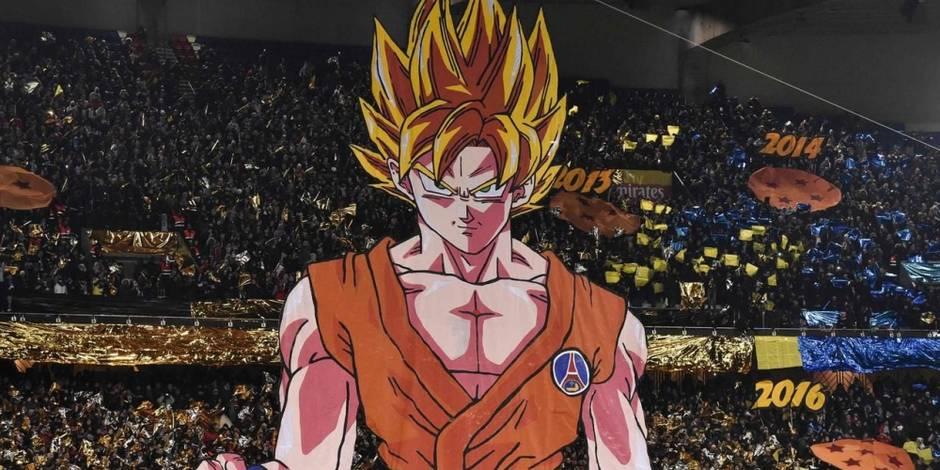 PSG - OM: le kop parisien sort un tifo hommage à Dragon Ball (PHOTOS)