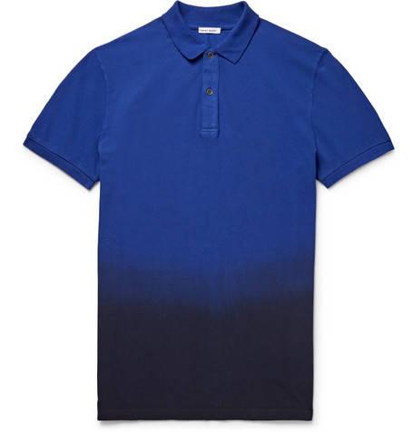 Tomas Meier, Slim-Fit Dégradé Cotton-Piqué Polo Shirt,     170 euros.