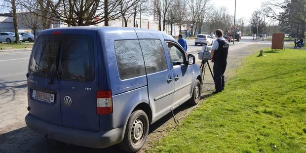 Un automobiliste flashé deux fois dans la même rue à Taintignies - La DH