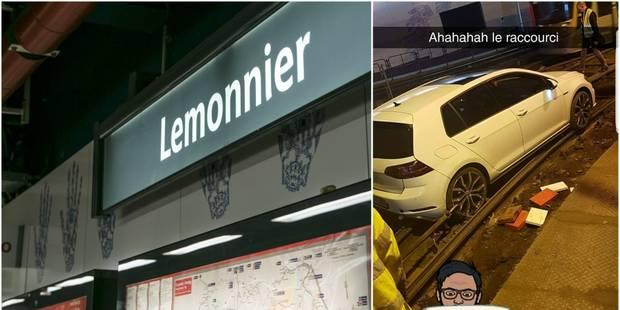 Encore une voiture sur les rails dans un tunnel de la STIB à Bruxelles ! - La DH