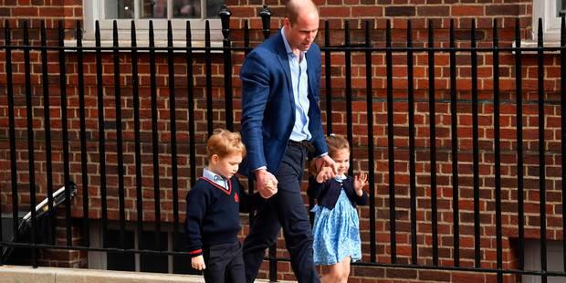 George et Charlotte arrivent à la maternité pour rencontrer leur petit frère - La DH